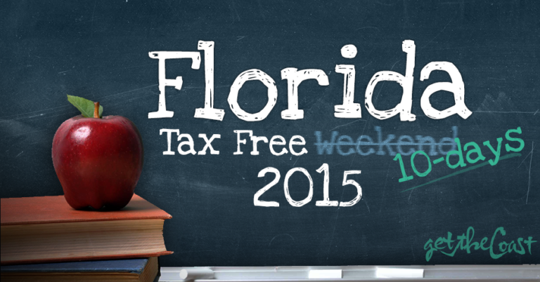 2015 Florida Tax Free Holiday Weekend graphic