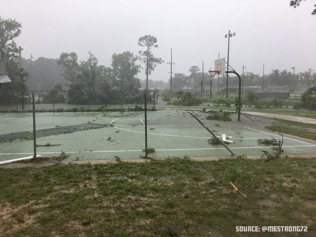 Ferry Park Basketball Court Damage
