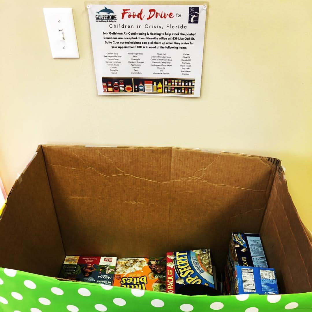 Gulfshore Air Conditioning & Heating Food Drive