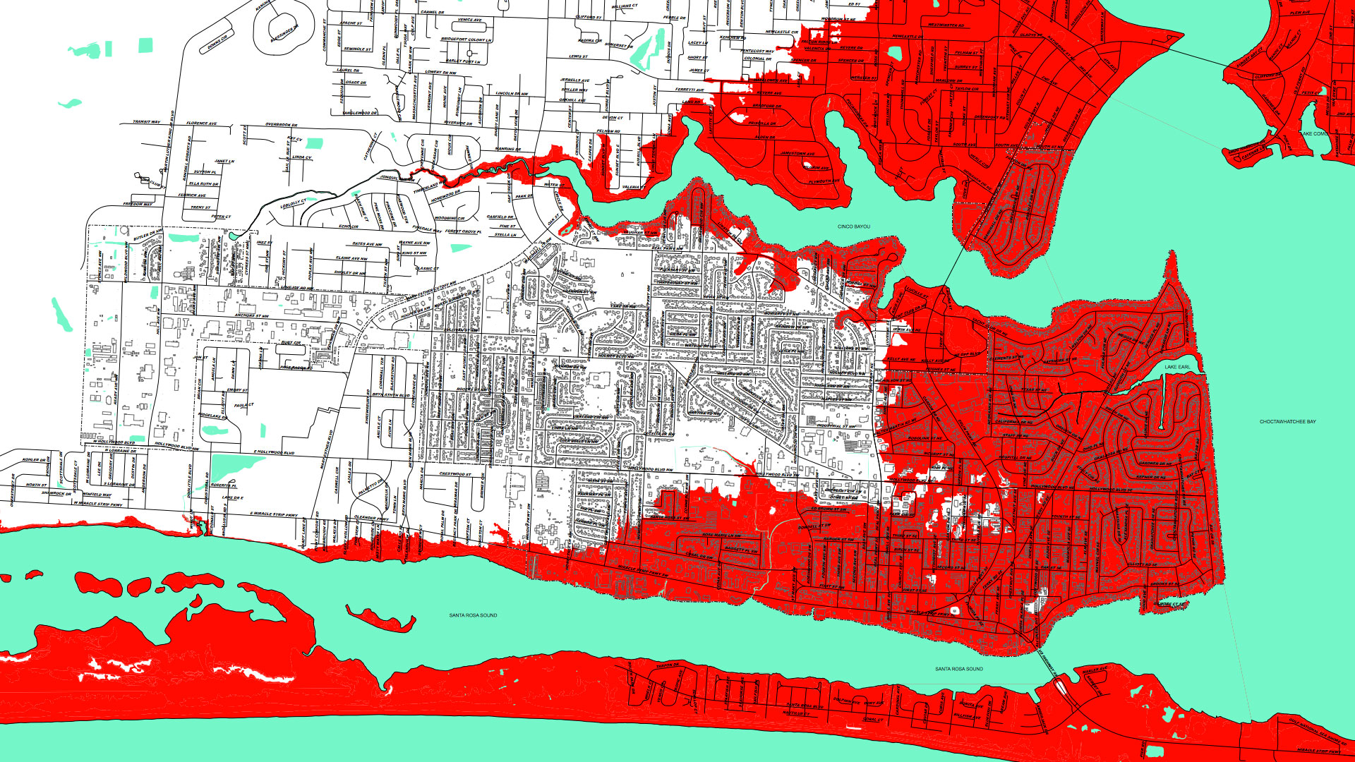 City Of Fort Walton Beach Destin Hurricane Surge Maps