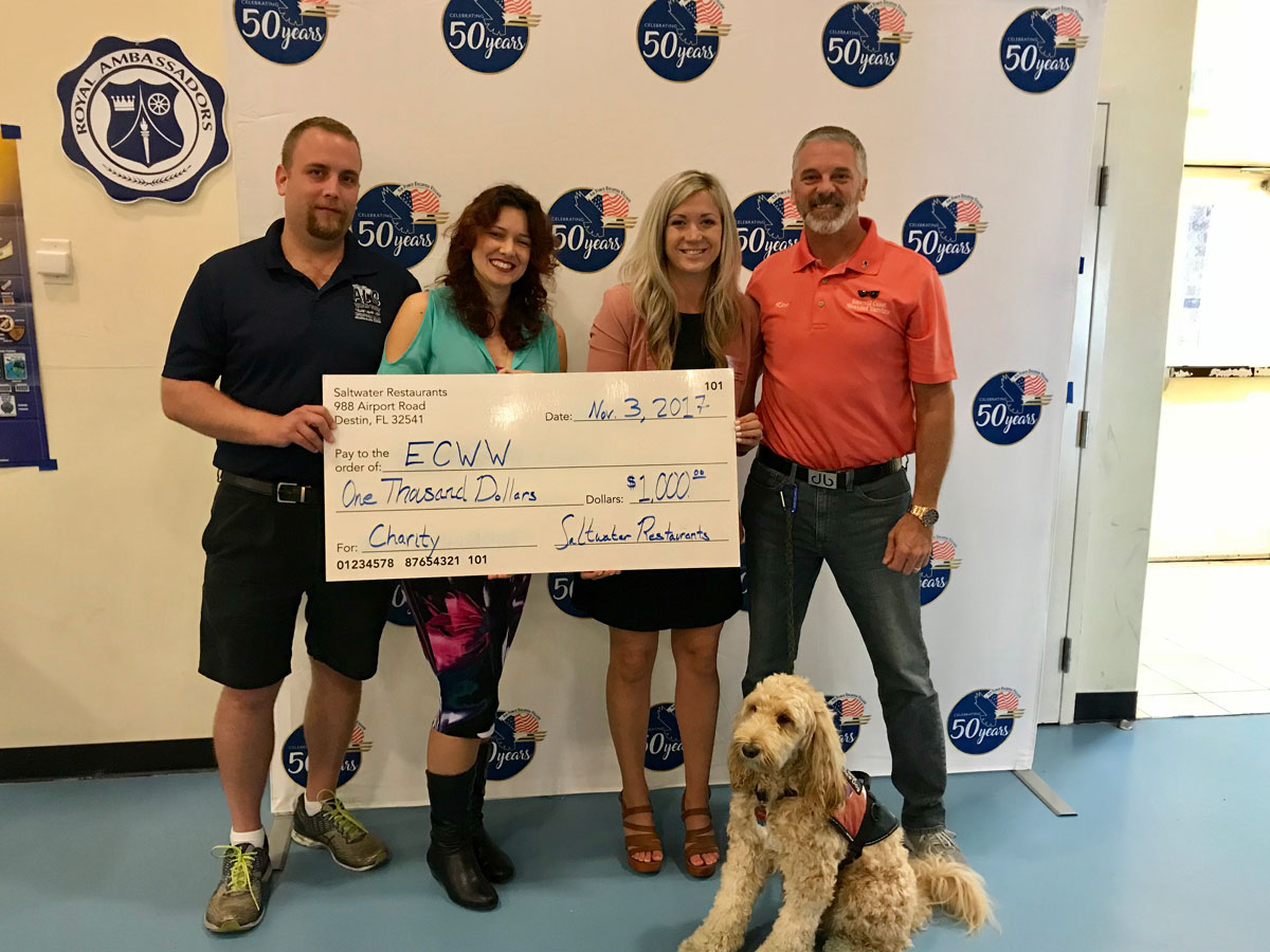 Al's Beach Club donates $1,000 to Emerald Coast Wounded Warriors