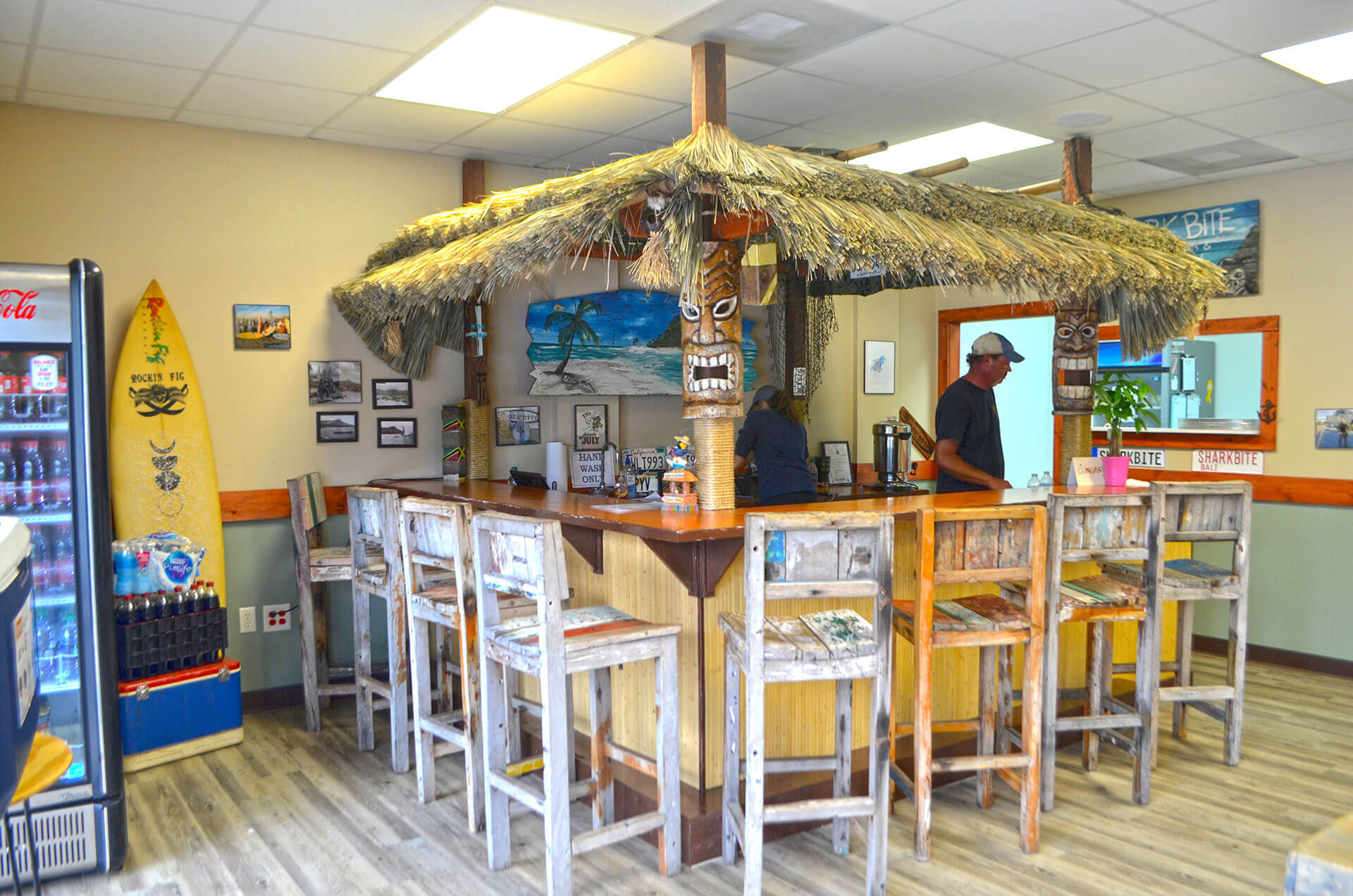 Shark Bite's hut in Fort Walton Beach