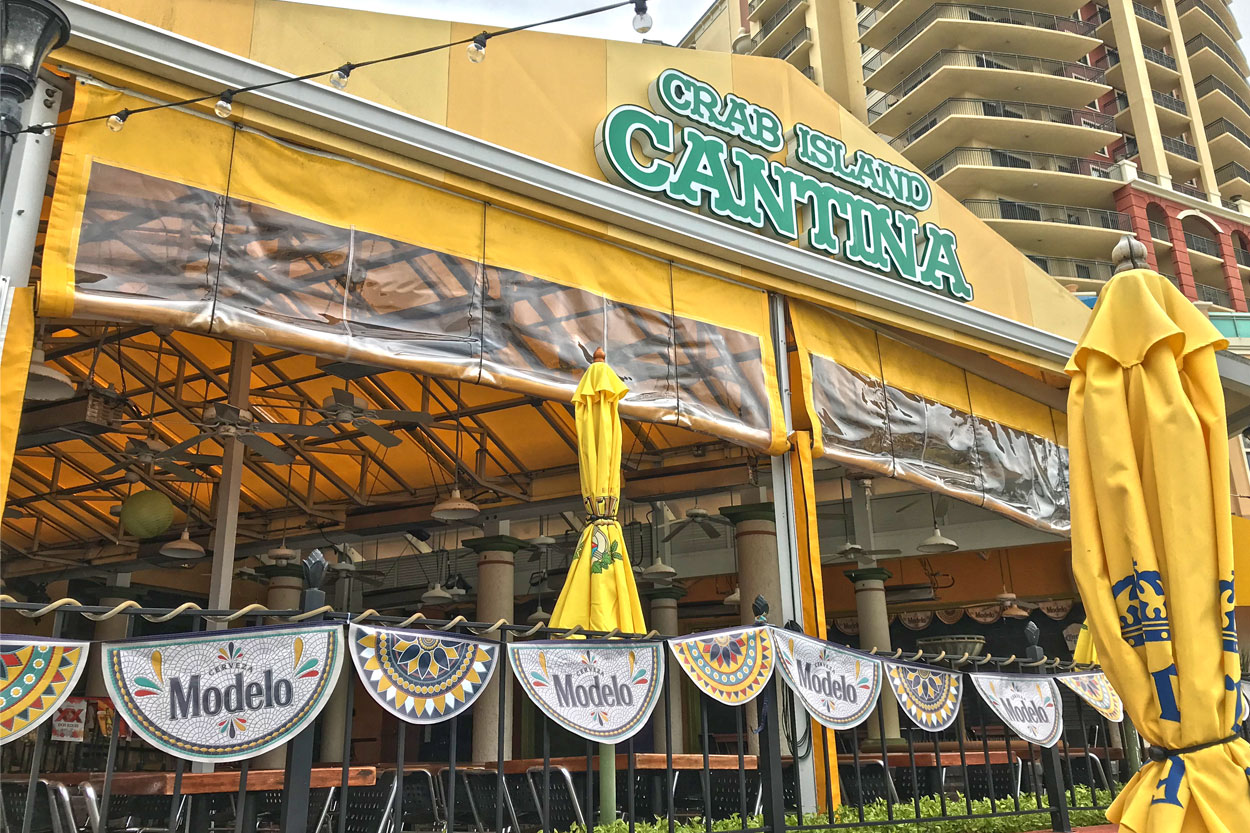 Crab Island Cantina Closed