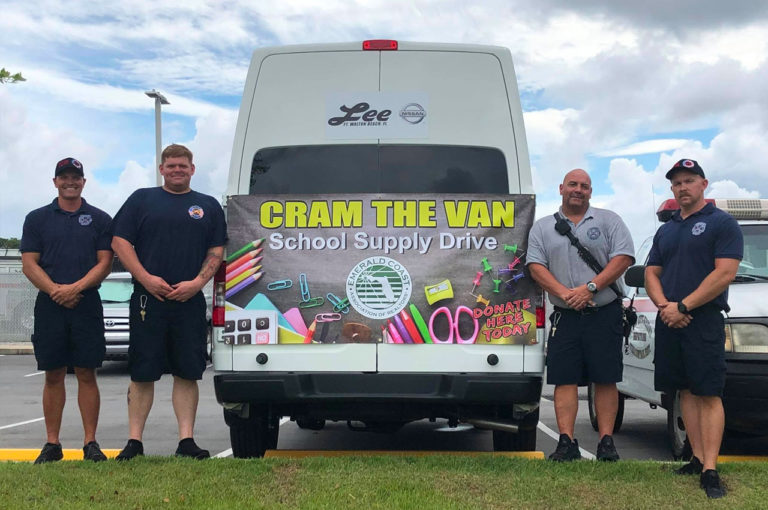 Cram the Van school supply drive