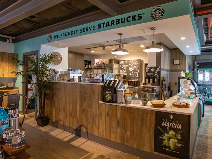 Now serving Starbucks coffee on Okaloosa Island