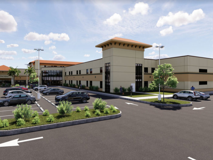 Rendering of the new additions at Fort Walton Beach Medical Center