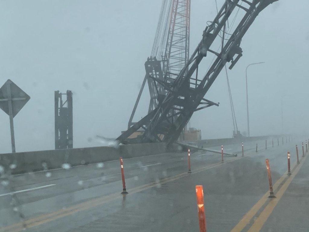 Pensacola Bridge Damage from crane