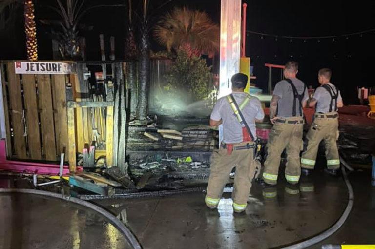 Fire crews on scene at Lulu's Destin